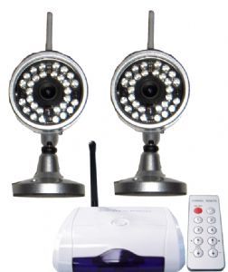 Wireless cctv camera system with night vision